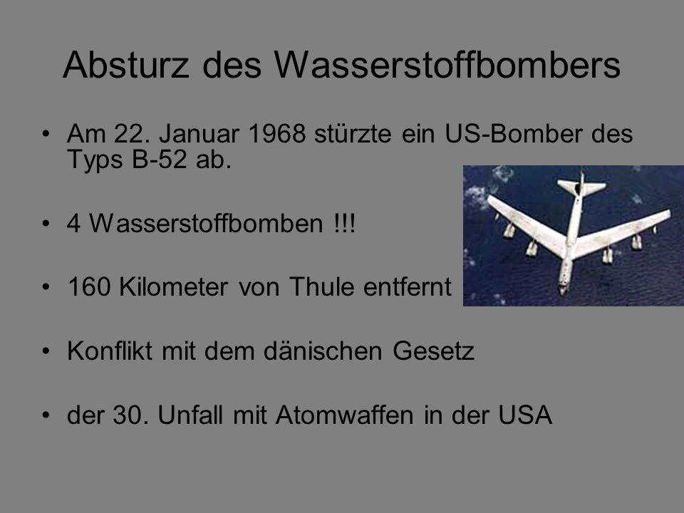 Absturz des Wasserstoffbombers