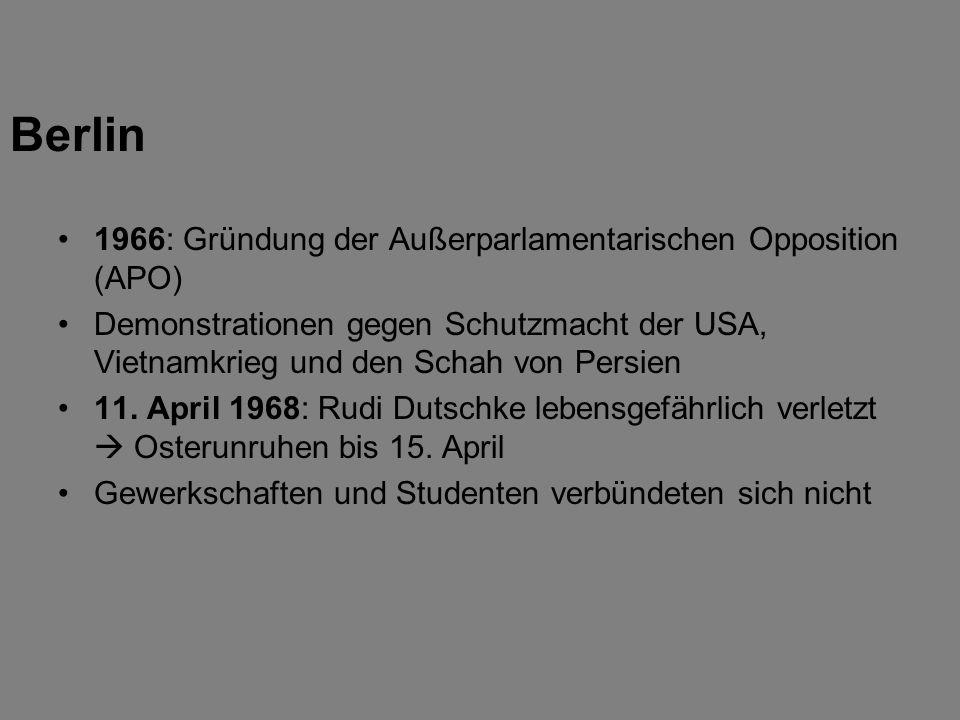 Berlin 1966: Gründung der Außerparlamentarischen Opposition (APO)