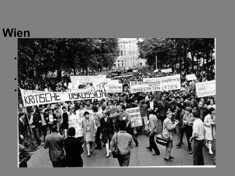Wien Reform der Hochschulen (bzgl. Schülerstipendien, Budget und Lehrstellen) wird gefordert. Mao Tse-tung und Flowerpower waren Vorbilder.