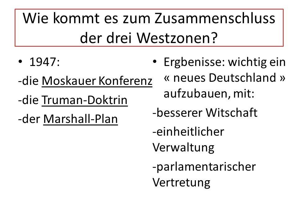 Wie kommt es zum Zusammenschluss der drei Westzonen