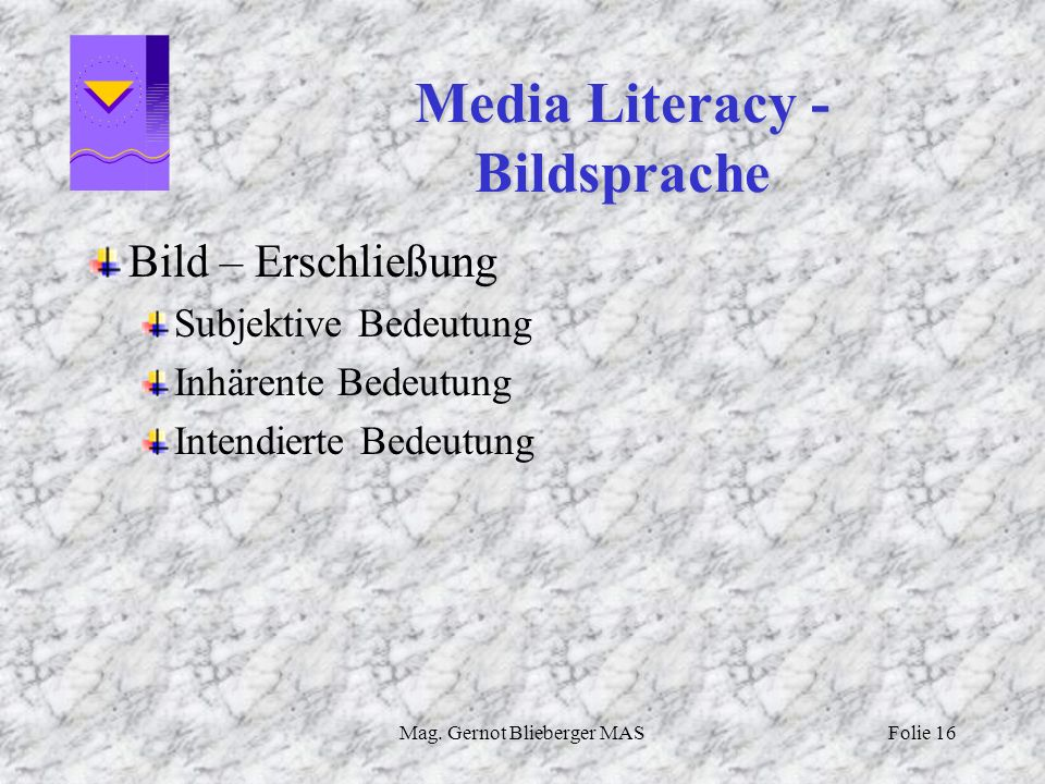 Media Literacy - Bildsprache
