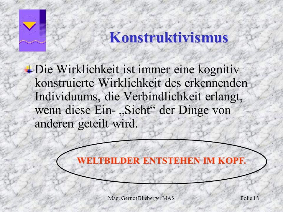 WELTBILDER ENTSTEHEN IM KOPF.
