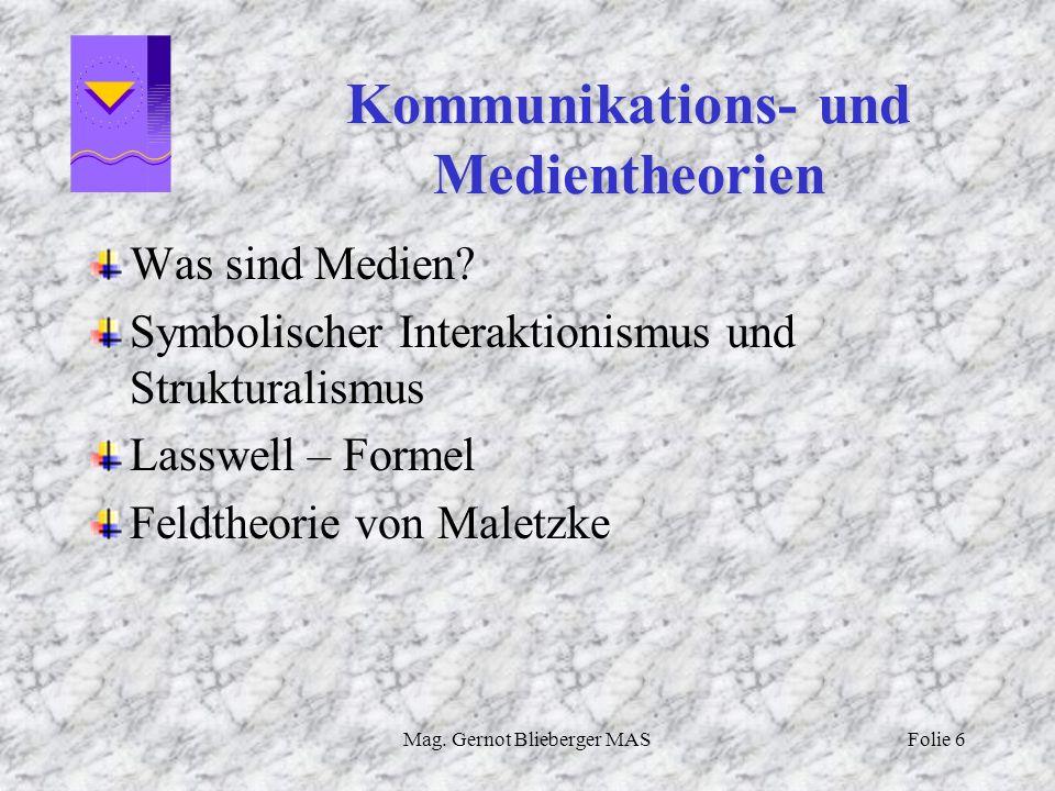 Kommunikations- und Medientheorien