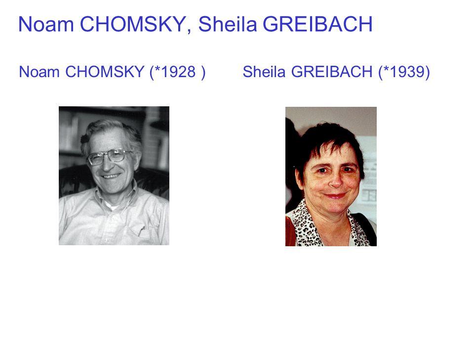 Noam CHOMSKY, Sheila GREIBACH