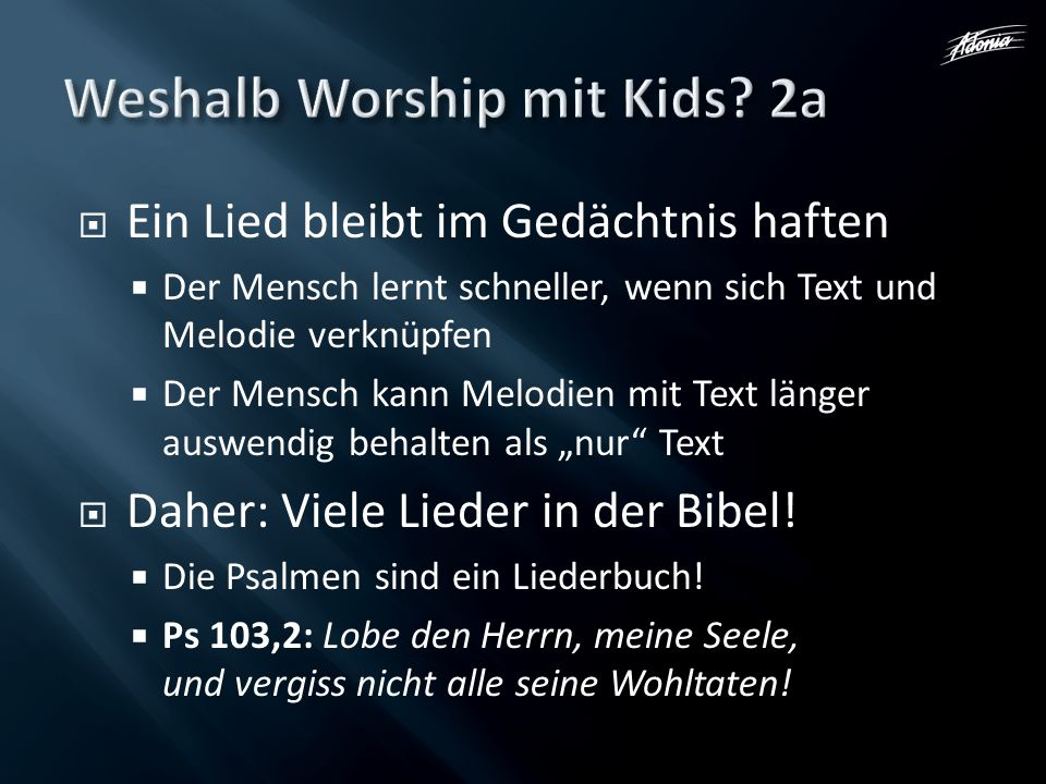 Weshalb Worship mit Kids 2a