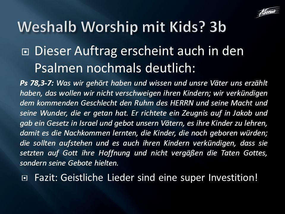 Weshalb Worship mit Kids 3b