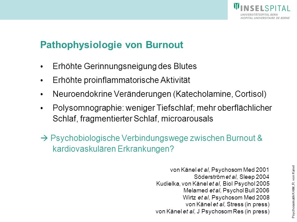 Pathophysiologie von Burnout
