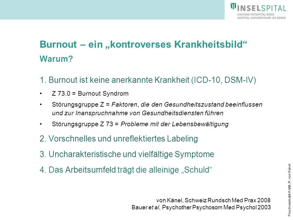 """Burnout – ein """"kontroverses Krankheitsbild Warum"""
