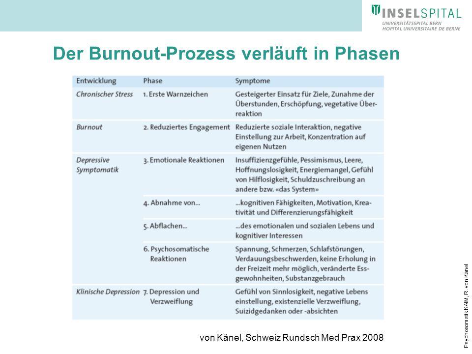 Der Burnout-Prozess verläuft in Phasen