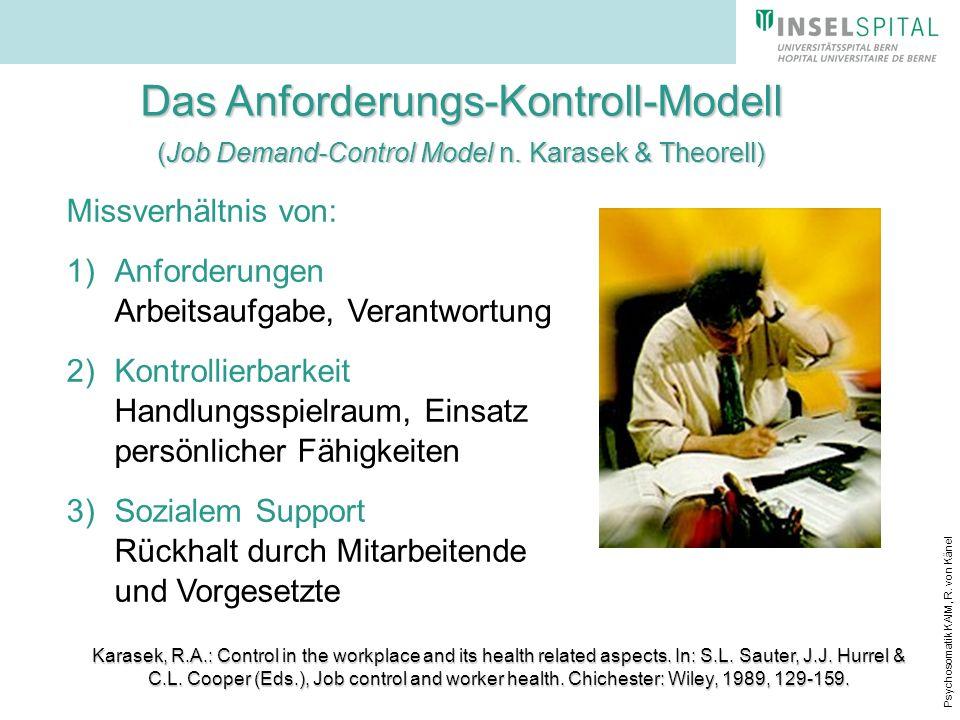 Das Anforderungs-Kontroll-Modell (Job Demand-Control Model n