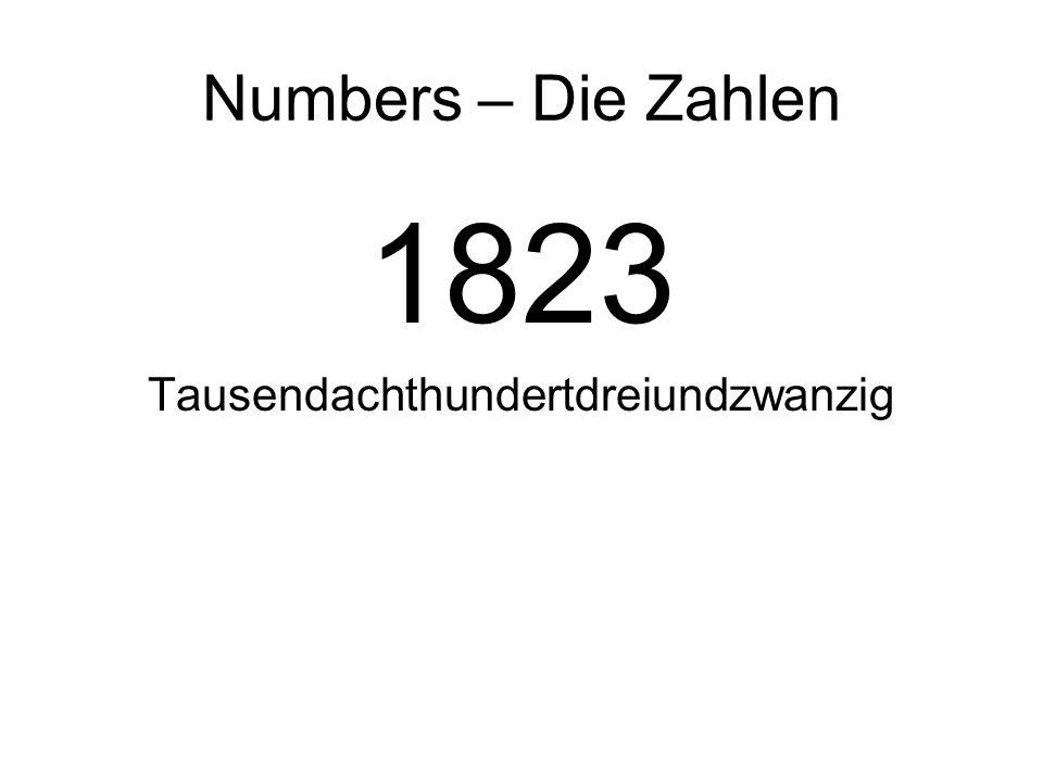 Tausendachthundertdreiundzwanzig