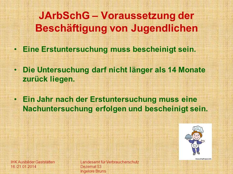 JArbSchG – Voraussetzung der Beschäftigung von Jugendlichen