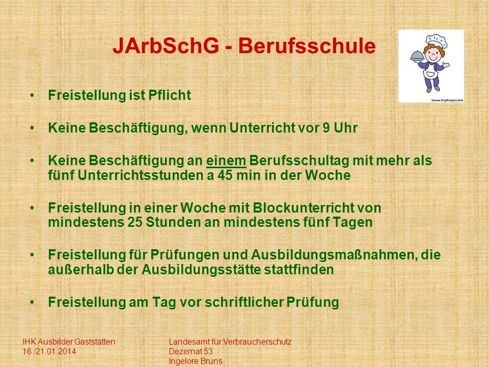 JArbSchG - Berufsschule