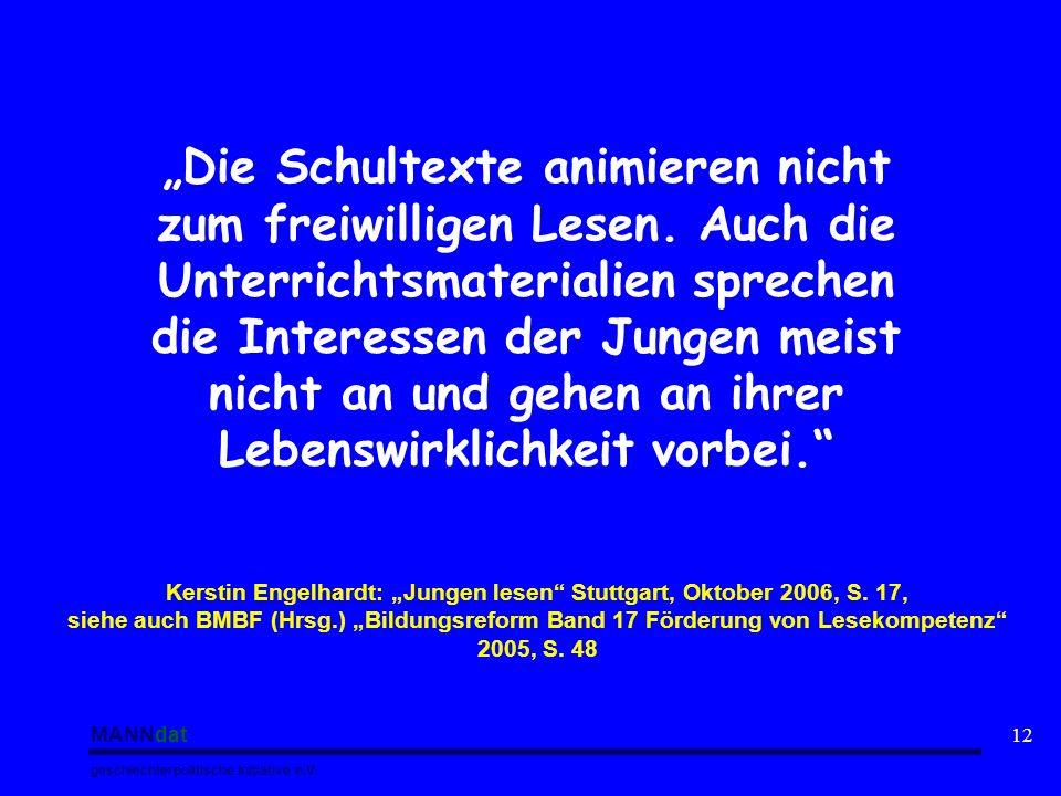 "Kerstin Engelhardt: ""Jungen lesen Stuttgart, Oktober 2006, S. 17,"