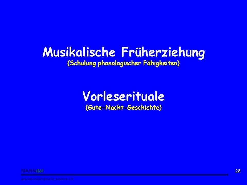 Musikalische Früherziehung Vorleserituale