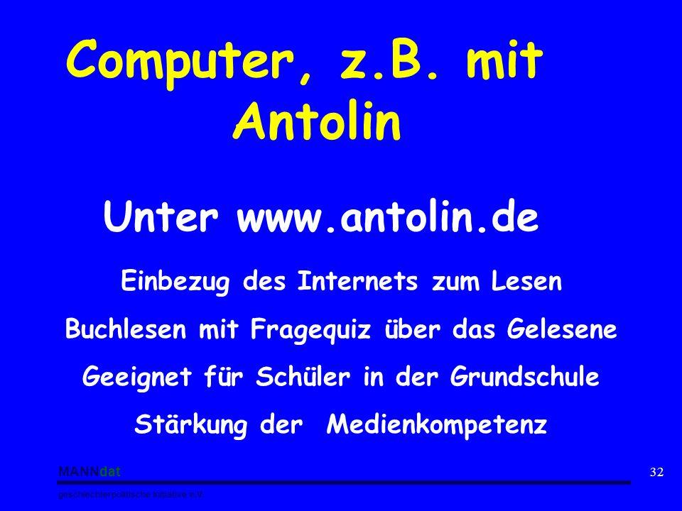 Computer, z.B. mit Antolin