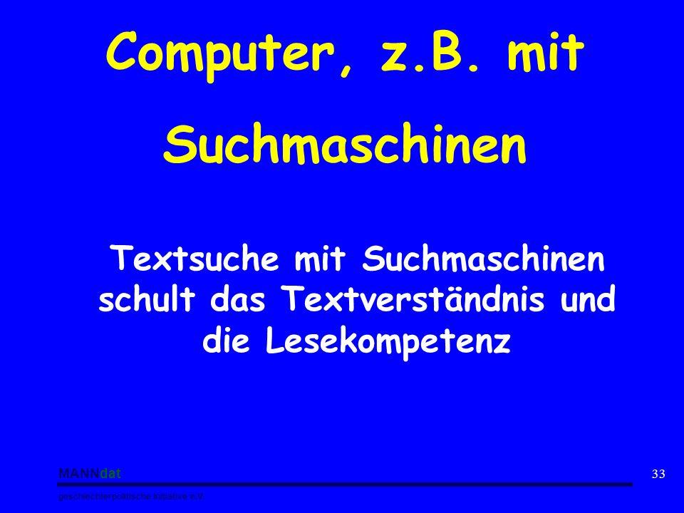 Computer, z.B. mit Suchmaschinen
