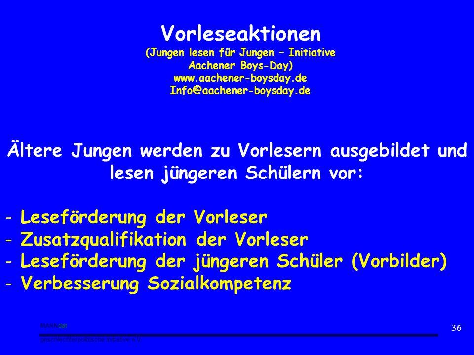 (Jungen lesen für Jungen – Initiative Aachener Boys-Day)