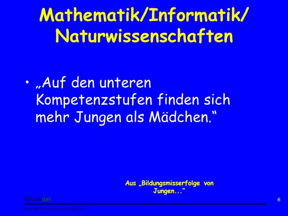 Mathematik/Informatik/ Naturwissenschaften