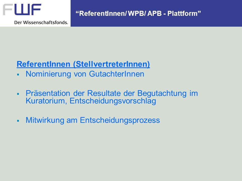 ReferentInnen/ WPB/ APB - Plattform