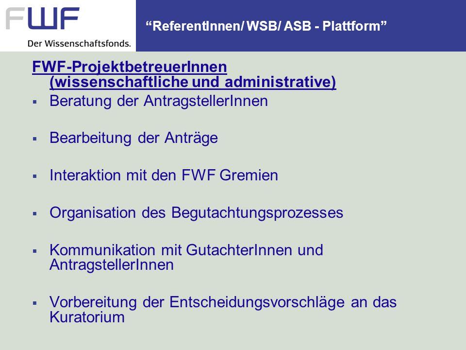 ReferentInnen/ WSB/ ASB - Plattform