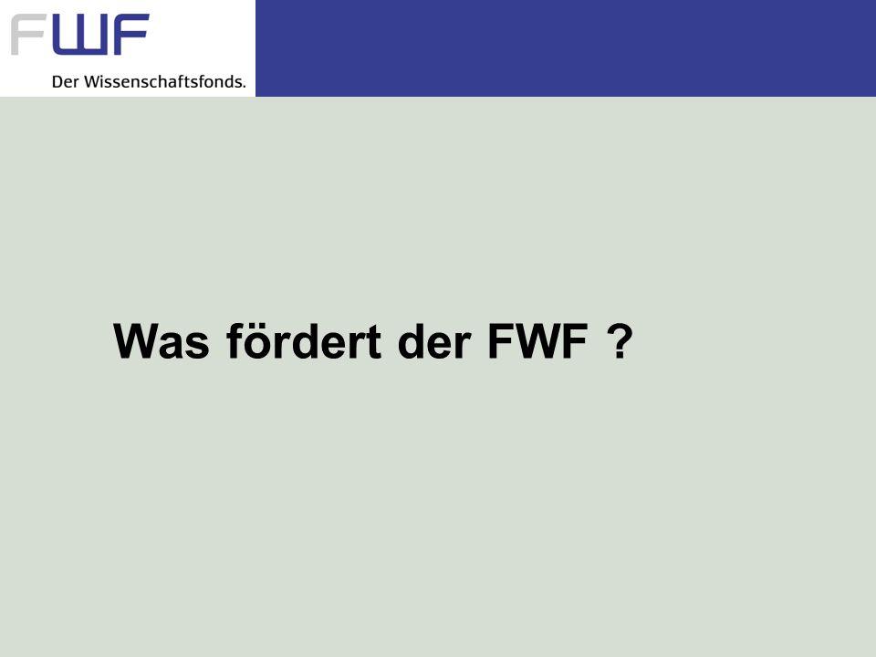 Was fördert der FWF