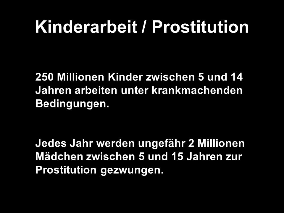 Kinderarbeit / Prostitution