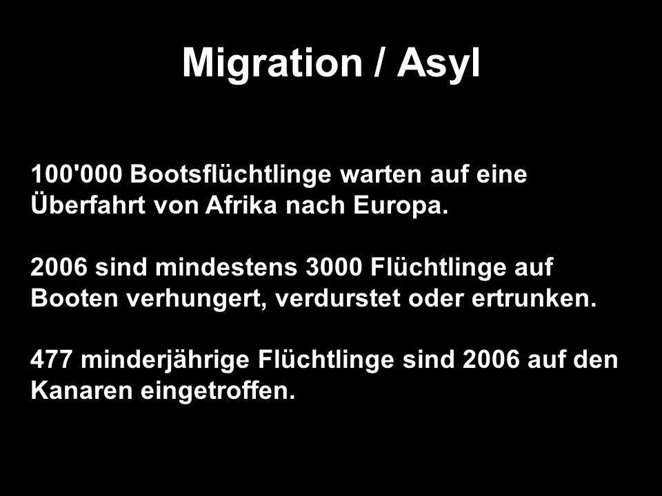 Migration / Asyl 100 000 Bootsflüchtlinge warten auf eine Überfahrt von Afrika nach Europa.
