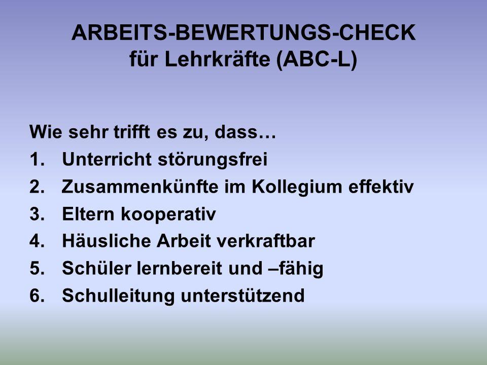 ARBEITS-BEWERTUNGS-CHECK für Lehrkräfte (ABC-L)