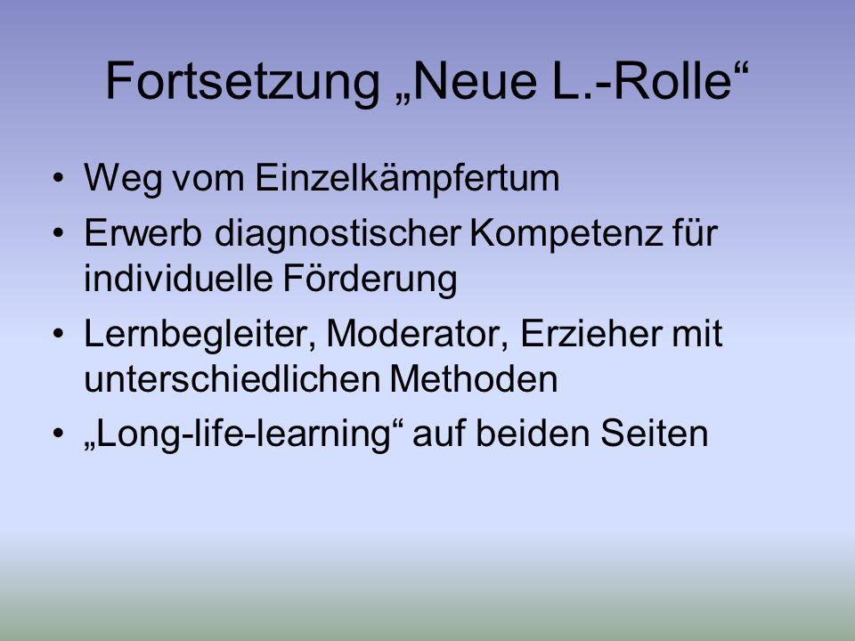 """Fortsetzung """"Neue L.-Rolle"""