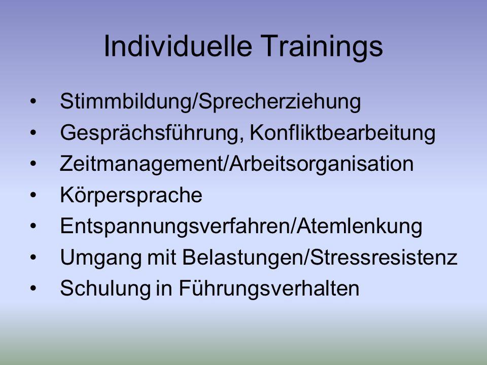 Individuelle Trainings