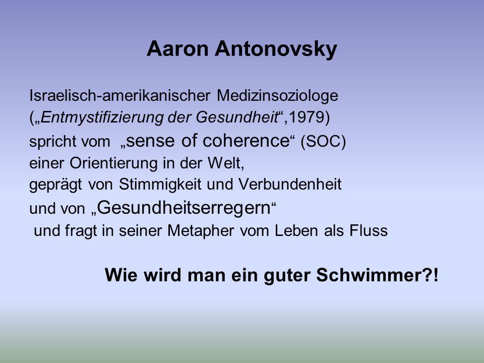 Aaron Antonovsky Israelisch-amerikanischer Medizinsoziologe