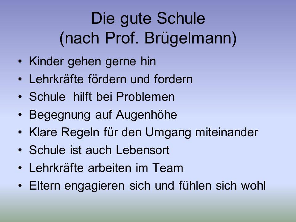 Die gute Schule (nach Prof. Brügelmann)