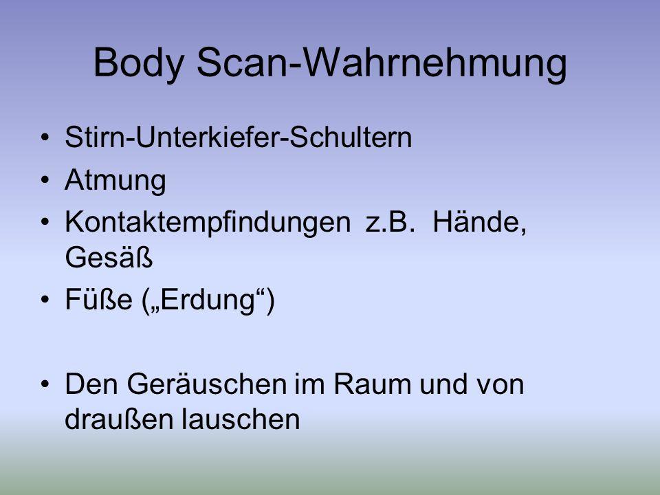 Body Scan-Wahrnehmung
