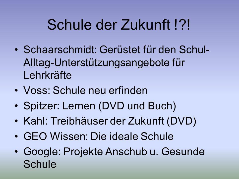 Schule der Zukunft ! ! Schaarschmidt: Gerüstet für den Schul-Alltag-Unterstützungsangebote für Lehrkräfte.