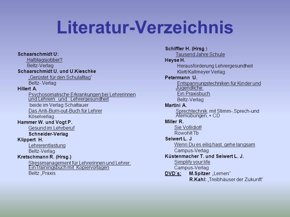 Literatur-Verzeichnis