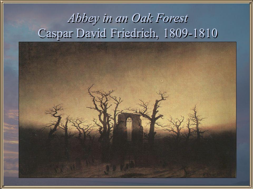 Abbey in an Oak Forest Caspar David Friedrich, 1809-1810