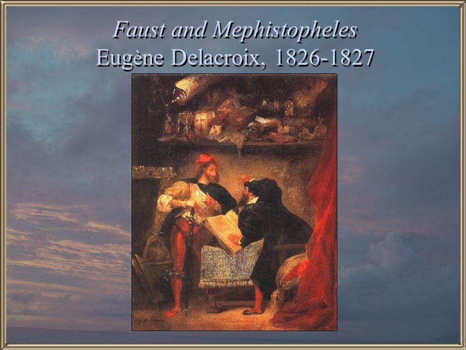 Faust and Mephistopheles Eugène Delacroix, 1826-1827