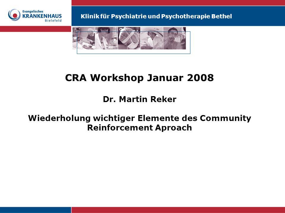 CRA Workshop Januar 2008 Dr.