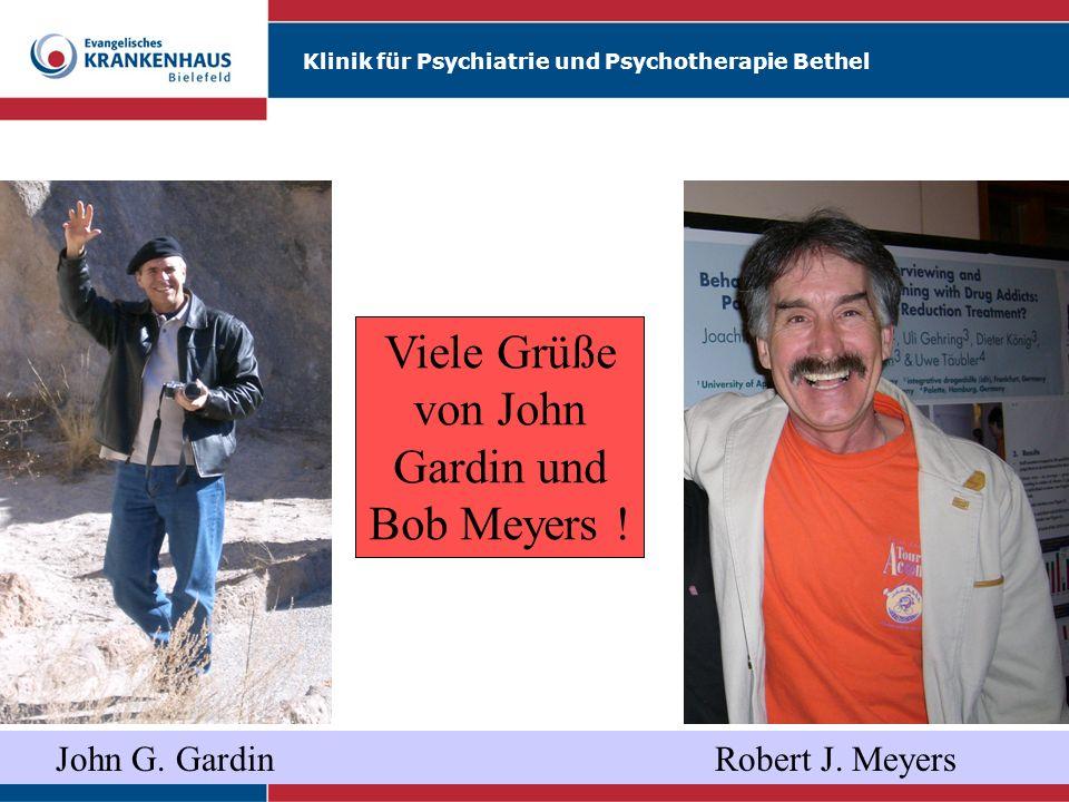 Viele Grüße von John Gardin und Bob Meyers !