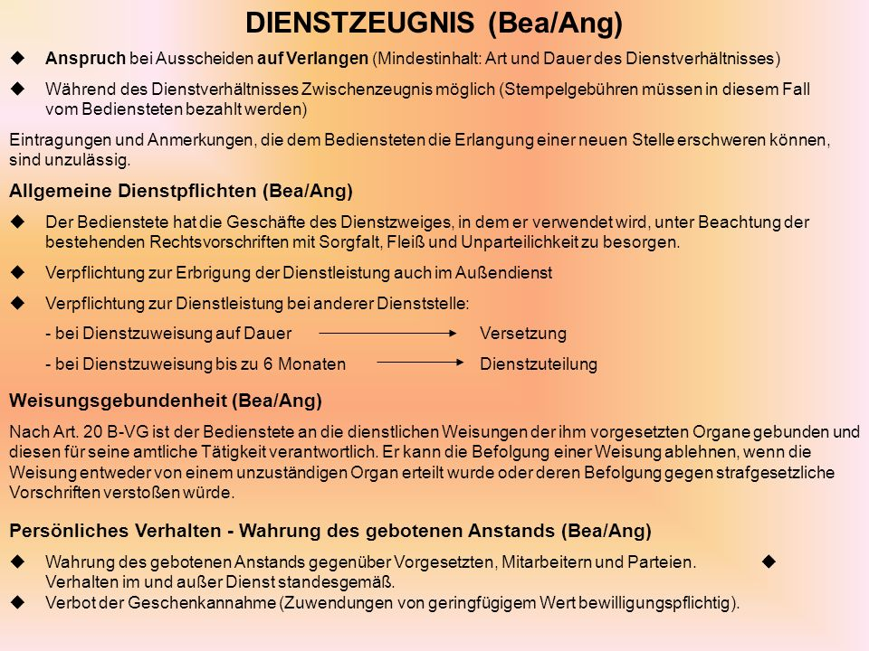 DIENSTZEUGNIS (Bea/Ang)