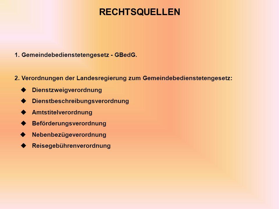 1. Gemeindebedienstetengesetz - GBedG.