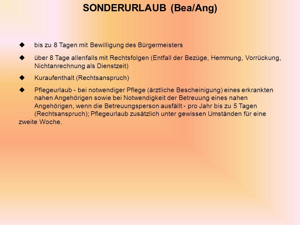 SONDERURLAUB (Bea/Ang)
