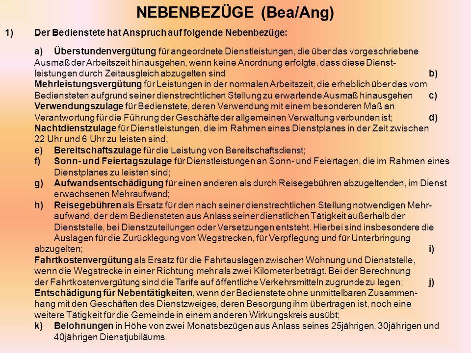 NEBENBEZÜGE (Bea/Ang)