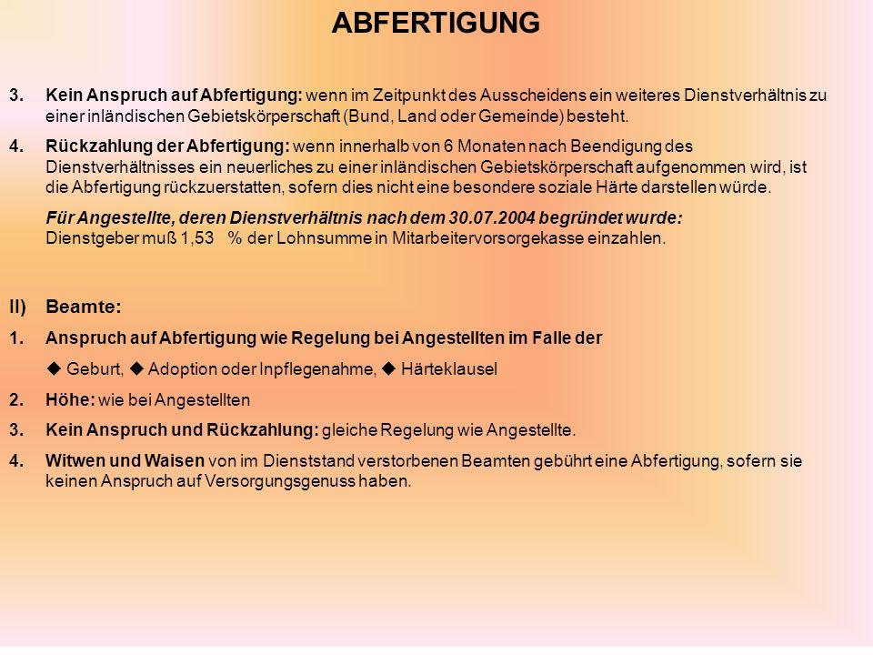 ABFERTIGUNG II) Beamte: