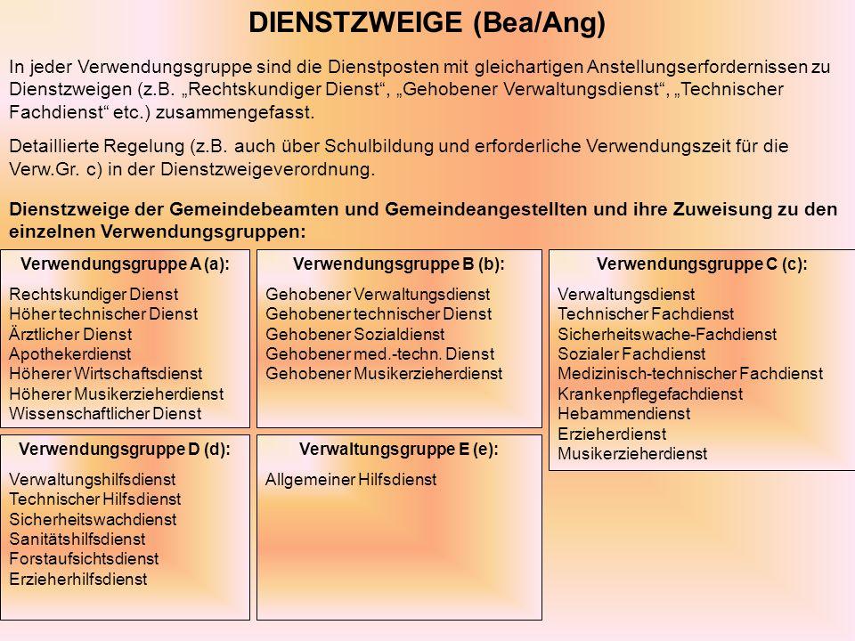 DIENSTZWEIGE (Bea/Ang)