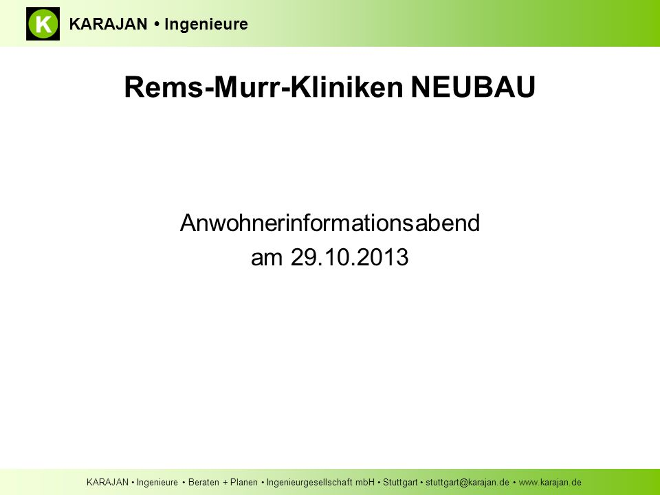 Rems-Murr-Kliniken NEUBAU