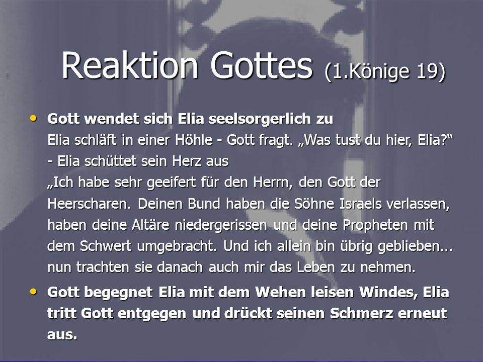 Reaktion Gottes (1.Könige 19)