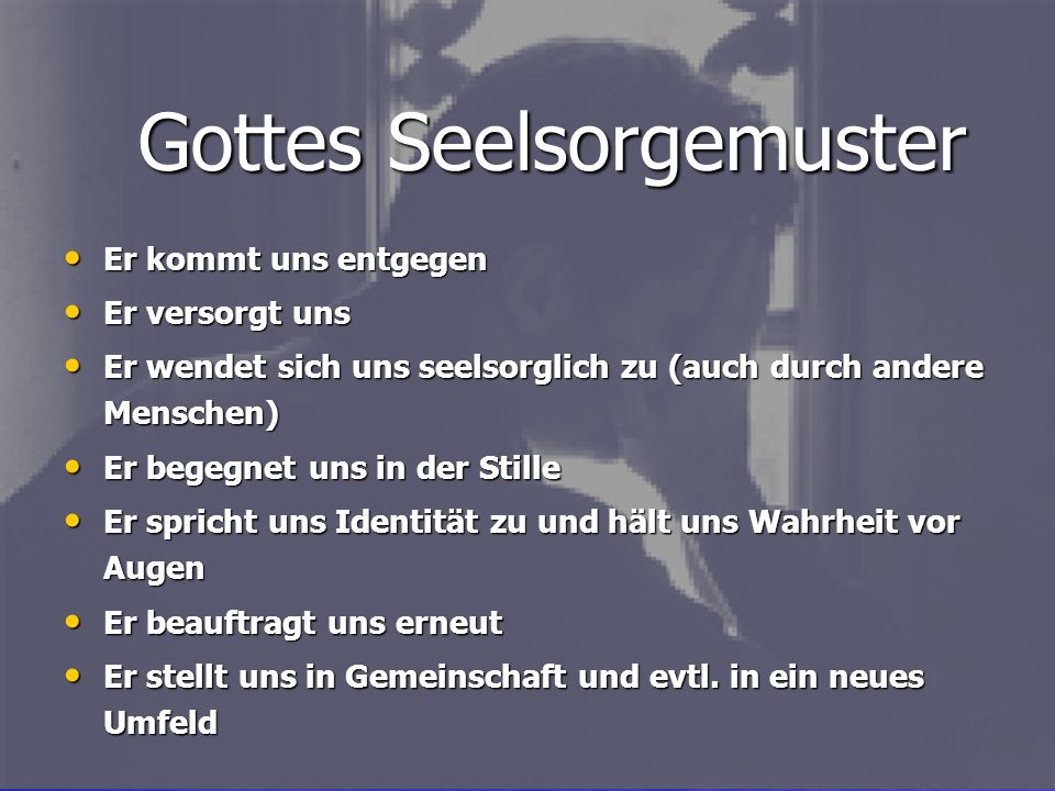 Gottes Seelsorgemuster