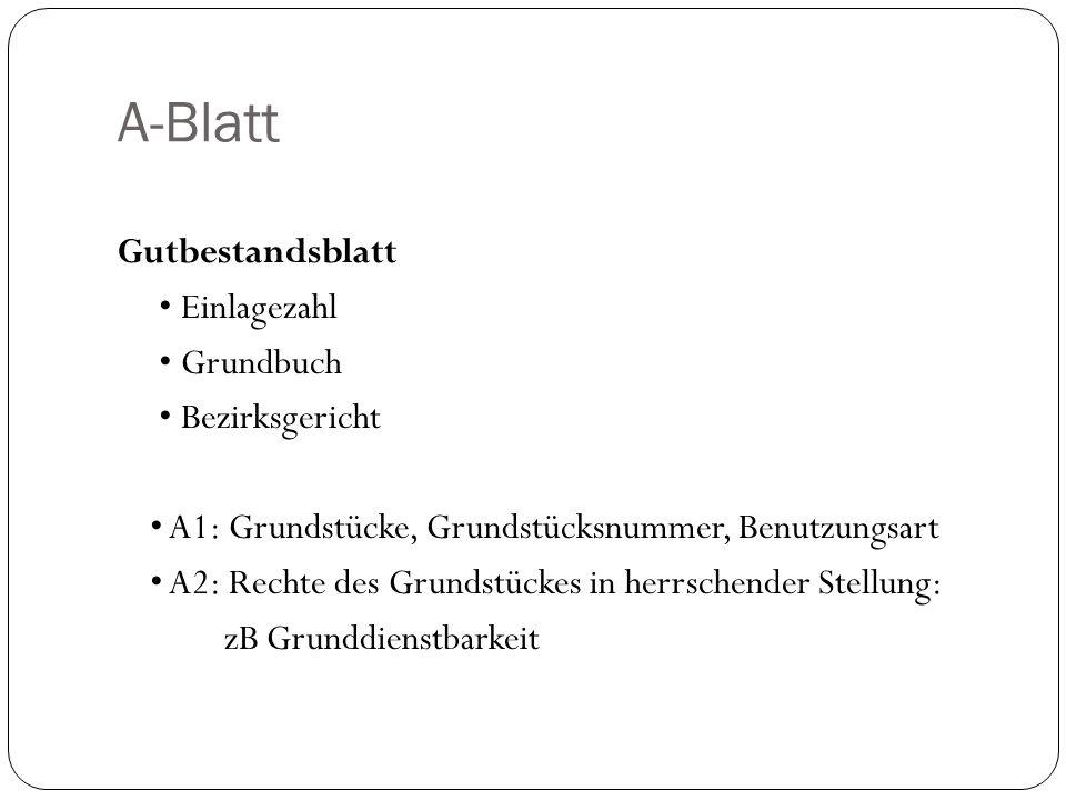 A-Blatt